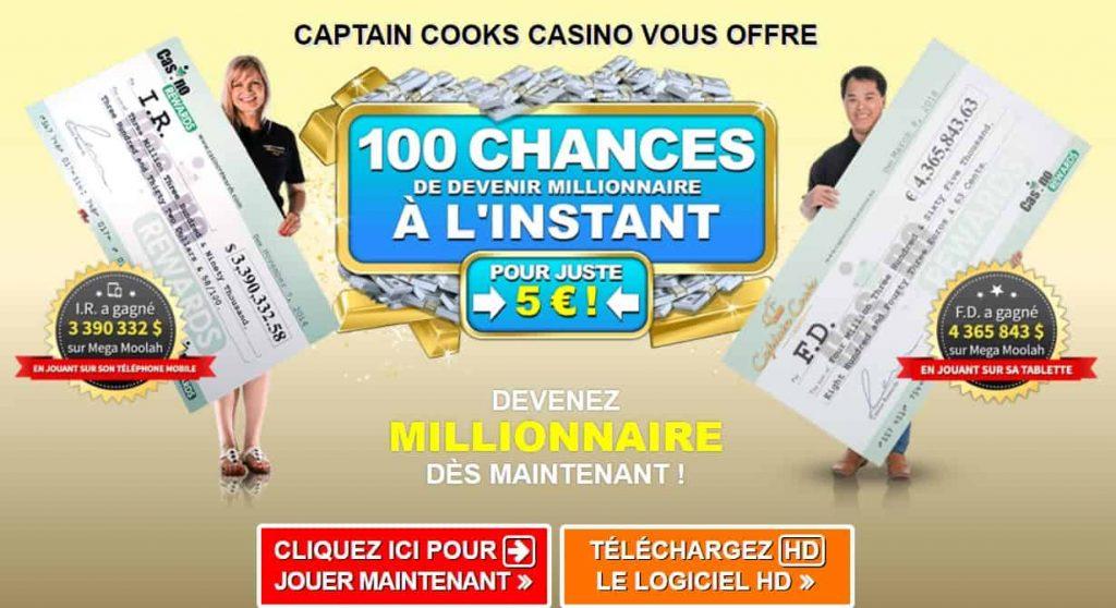 captain cooks casino avis