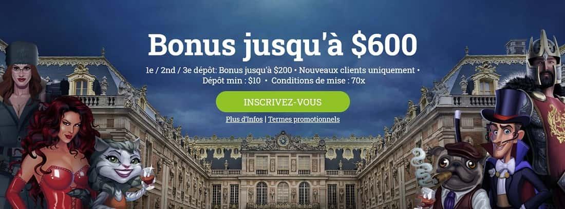 bonus de bienvenue du casino europalace