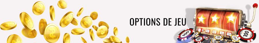 options de jeu de casino wild fortune